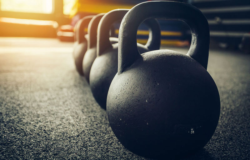 Kettlebell-on-rubber