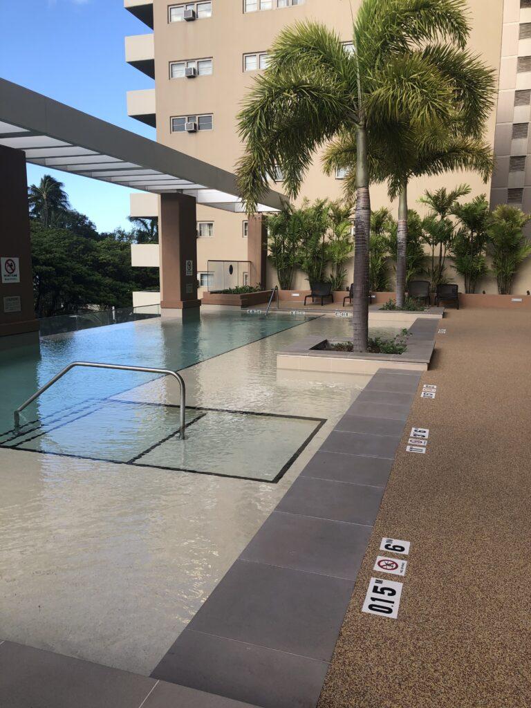 Hawaii Resort Pool Surface